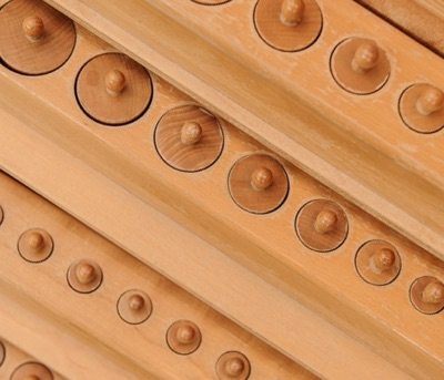close up of knobbed cylinders