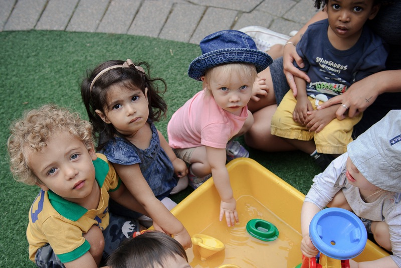Children under 3 using water table