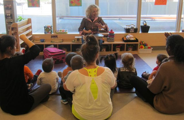 Under 2 family music class with Adrianna