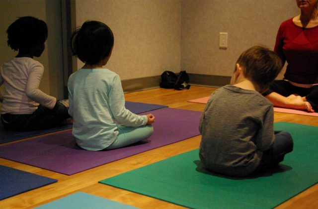 Casa children in yoga class
