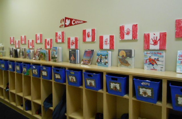 Canada Day display