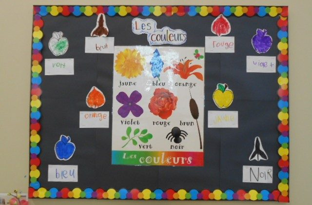 French colours bulletin board
