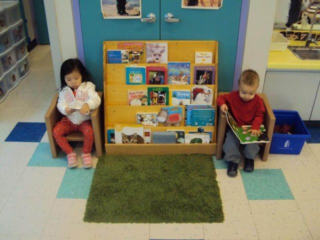 Children looking at books